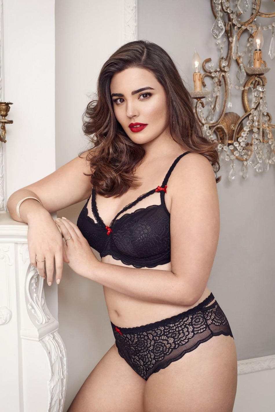 f36c64cff Alessandra sizzles in sultry plus-size lingerie campaign