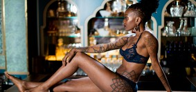 A African Lady in Lingerie pose