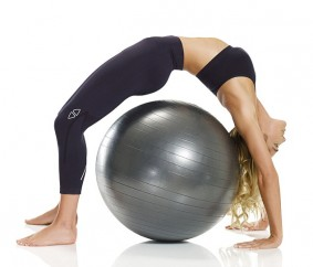 Ashley hart workout with exercise ball