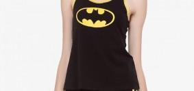 A girl in Batman Black Nightwear Soie Collection