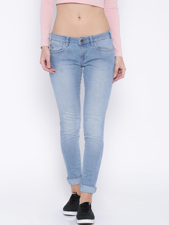 Blue Jeggings Fit Jeans Wrangler For women