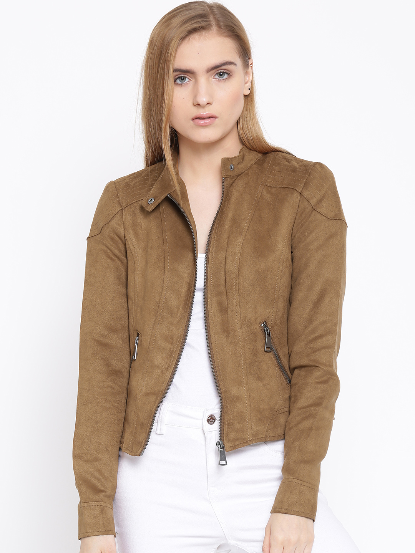 A Model wearing Vero Moda Brown Jacket