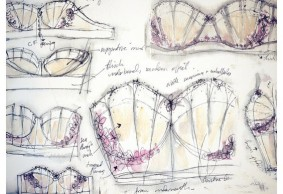 Bra Sketches made by Lingerie Designer