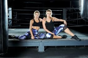 Adore me Black Bra n blue n white Sports wear Pants