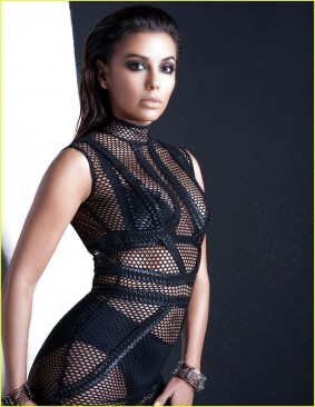 Eva Longoria black lingerie sexy nets