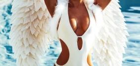 kimberley white sexy swimwear