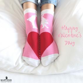 Valentines special Mustang Socks Heart shape socks