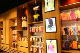 Mannequins In Bra And Panties & other innerwear & Loungewear Products hanging on racks v-star store