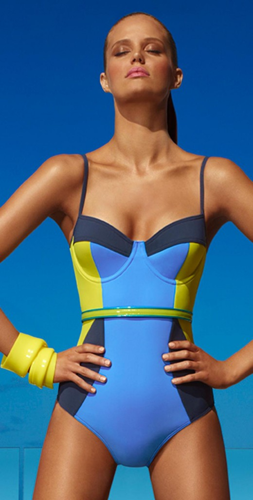 Herve Leger Two-Piece Colorblock Bikini. For me summer ) Find this Pin and more on Swimsuits Trends: Bathing Suits for Women by Maribel Priest. A sultry bikini set featuring on-trend colorblocking and a fit to die for, thanks to a touch of stretch.