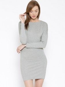 Vero-Moda-Grey-Melange-Blouson-Dress