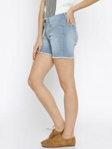 Jealous-21-Women-Blue-Solid-Regular-Fit-Denim-Shorts