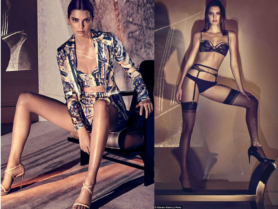 kendall Jenner on New Campaign Laperla lingerie campaign