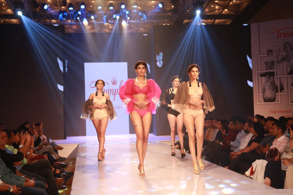 models ramp walk at triumph fashion show