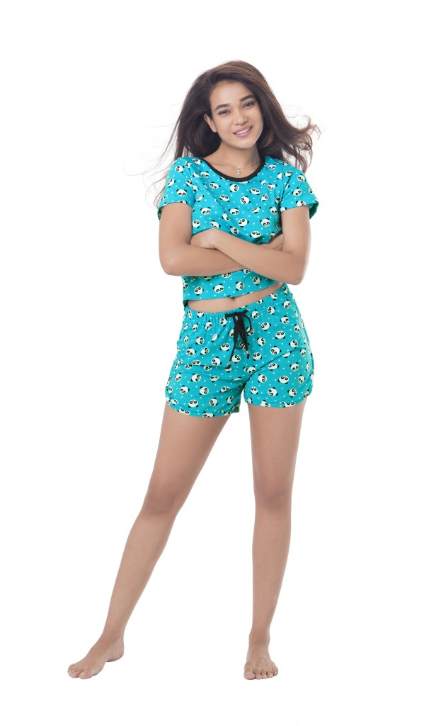 lacenlingerie_PrettySecrets_Cotton Cuddle Me Panda Top and Short Set_INR 1299