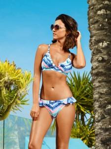 Lucy Mechkelenburgh Shows new Swimwear Designs