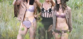 victoria's secret models shoot for new lingerie line