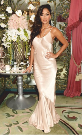Nicole scherzinger in satin gown