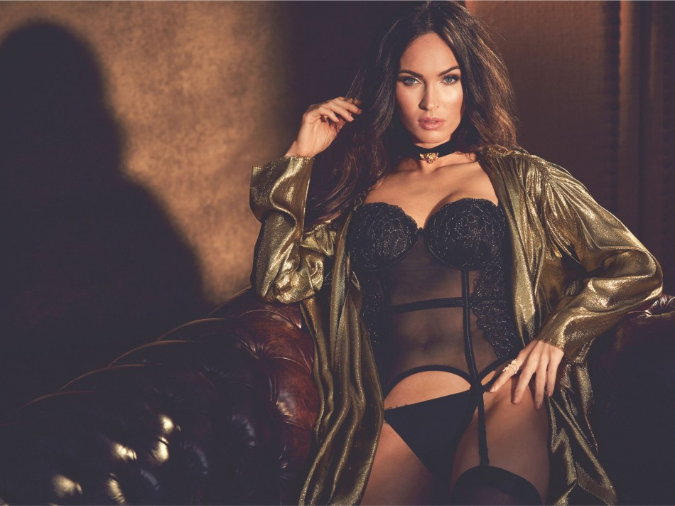 Magan fox in black corset & underwear , megan fox looks than ever in new campaign