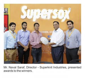 Supersknit industries present awards to winners