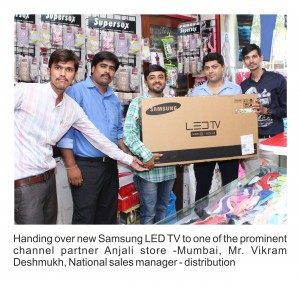 Handling Over New Samsung LED Tv
