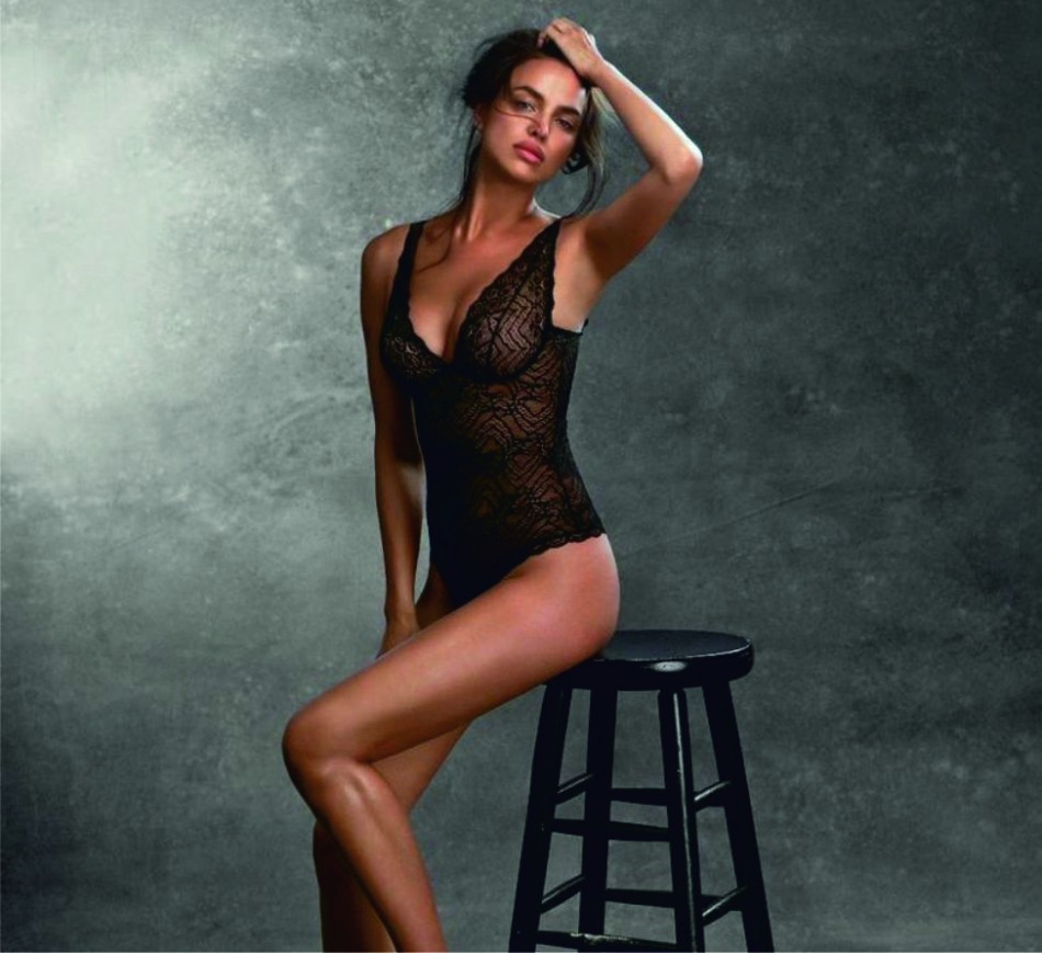 Russian model Irina Shayk  in the latest Intimissimi  'every wear' campaign