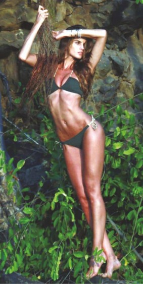 Izabel Goulart for jungle themed photoshoot