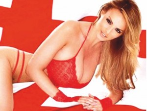 Jaw-droppings pics of sultry Rhian Sugden for England fans- 1