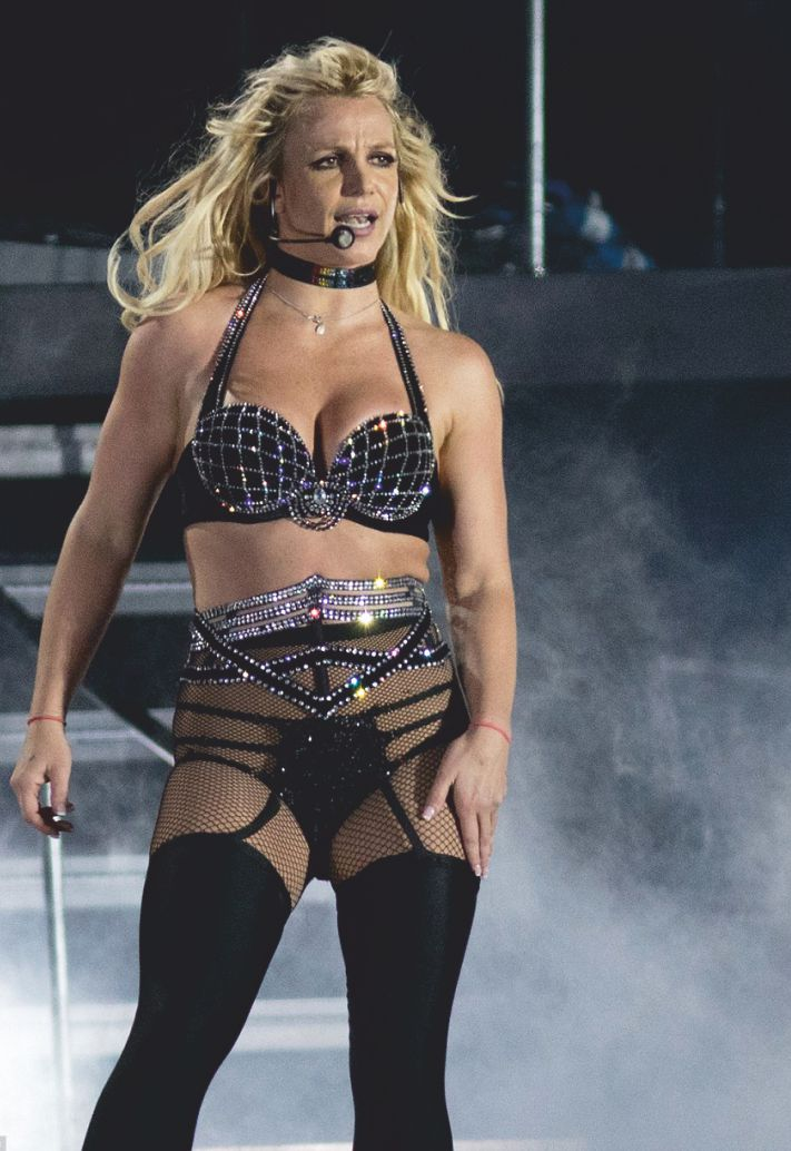 princess britney scorches the stage in black