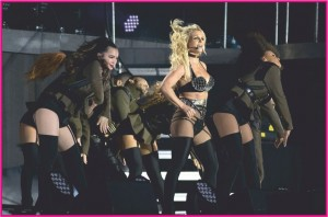 Pop Princess Britney scorches the stage in black bondage-inspired lingerie for Brighton's Pride Festival - 2