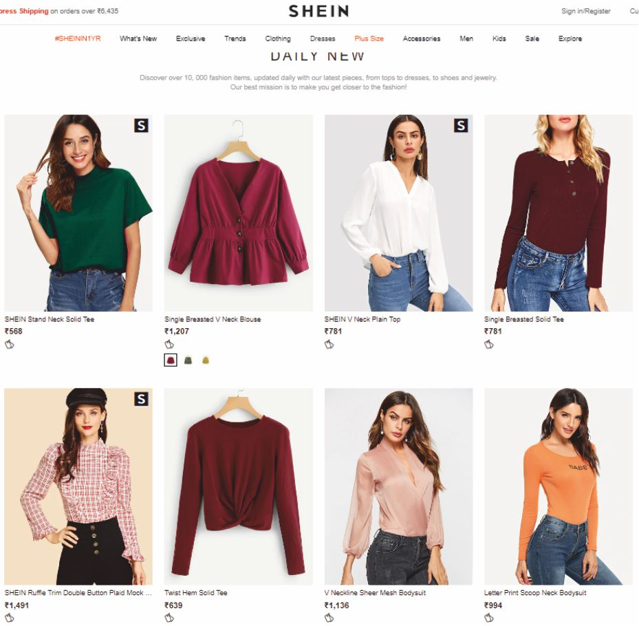 728f29948f shein.in Trendy, affordable fashion | Lingerie Brands India