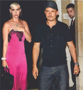 Pop star Katy Perry looks lovely for date night with Orlando Bloom in lingerie dress - 1