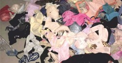 Tried and soiled bra and panties (lingerie)