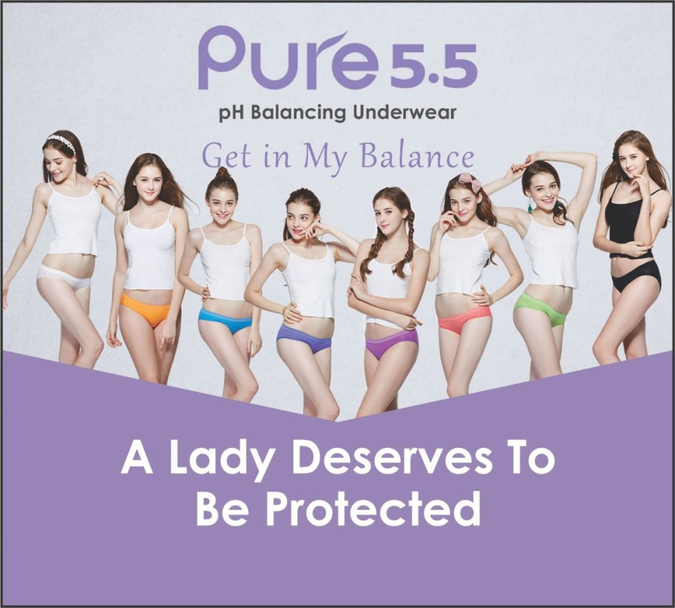 pH balancing underwear ''pure 5.5''