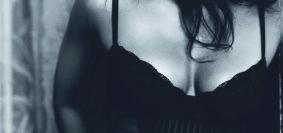Padma Lakshmi wearing lingerie top