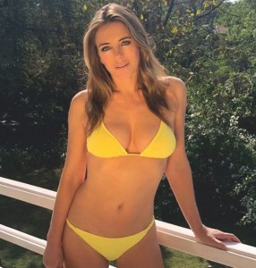 LACY TALES - Liz Hurley flaunts her sexy bod in a barely there two piece 2