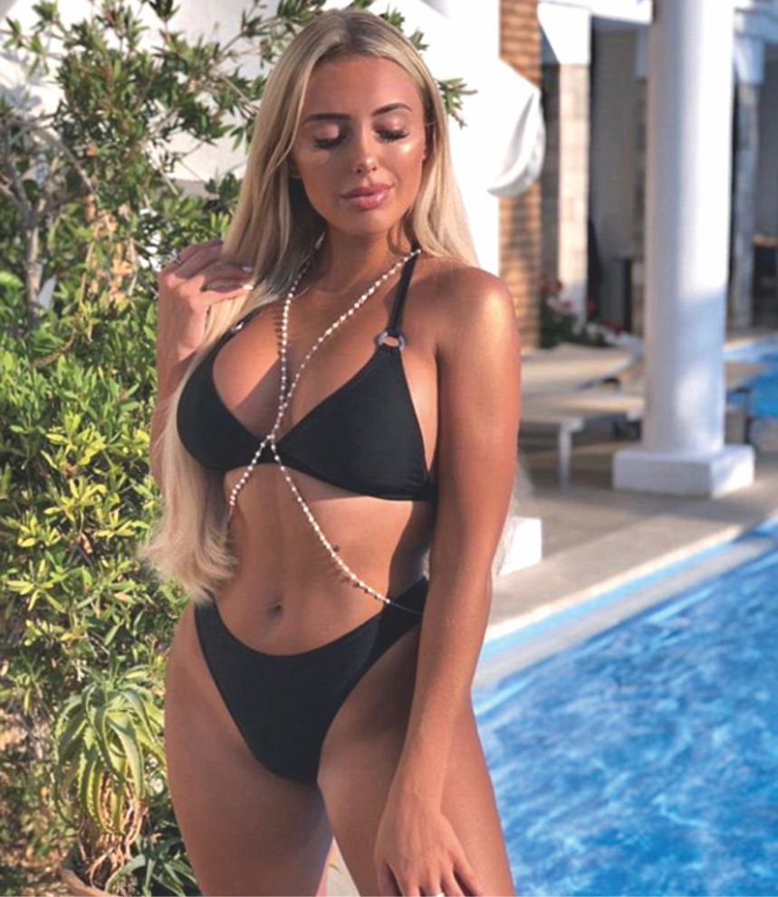 Towie Amber Turner in black lingerie - sultry look