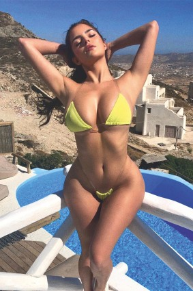Demi Rose sizzles in skimpy lingerie while holidaying in Greece - 2