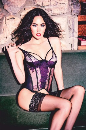 Megan Fox looks enchanting as she poses in Frederick's of Hollywood lingerie