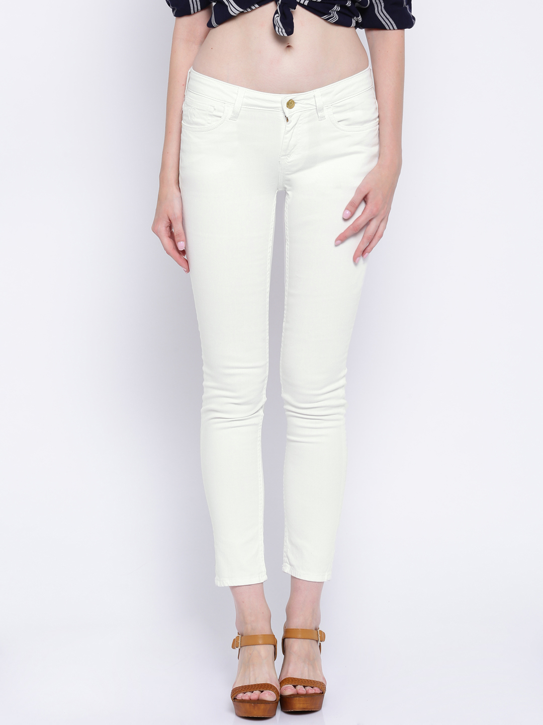 Flying Machine White Veronica Fit Jeans