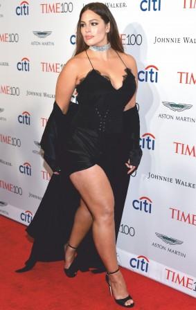 Slip into a black maxi cami dress like Ashley Graham