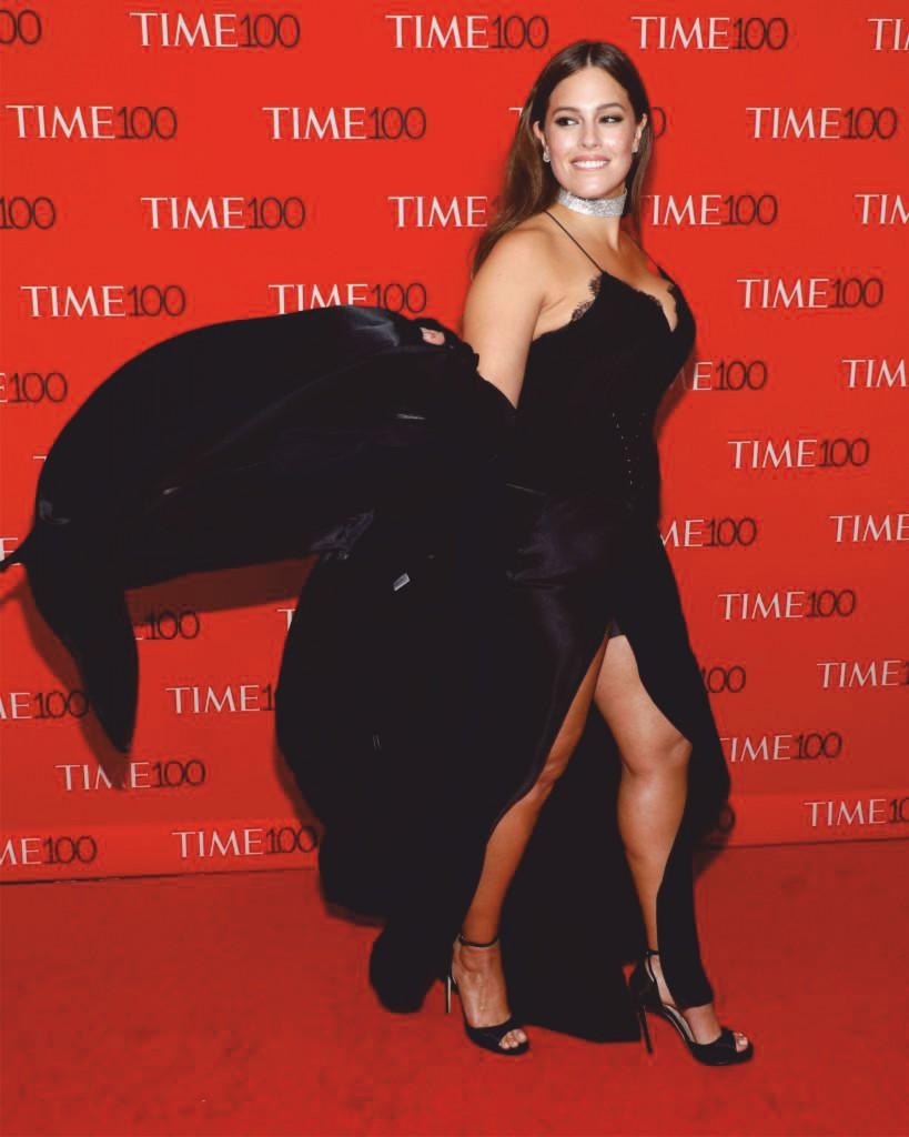 Slip into a black maxi cami dress like Ashley Graham-2