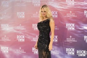 Pamela Anderson at Rock my swim show in Paris