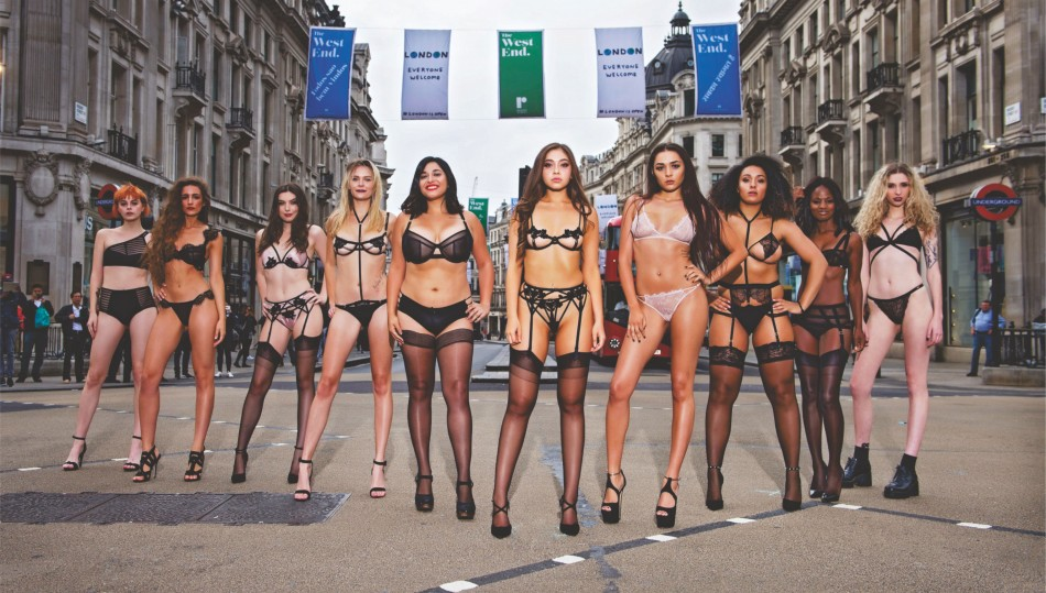 19 models stopping traffic lingerie campaign by bluebella