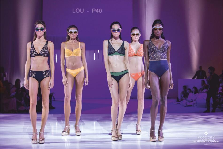 Salon International de la lingerie, models on ramp