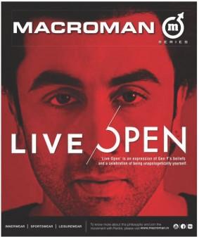 Ranobir kapoor 'live open' by macroman