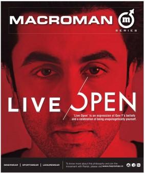 Ranbir kapoor new slogan ''Live Open''