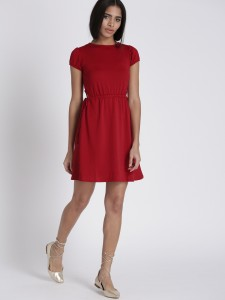 11506424524866-Chemistry-Women-Red-Self-Design-Fit-and-Flare-Dress-4361506424524760-4