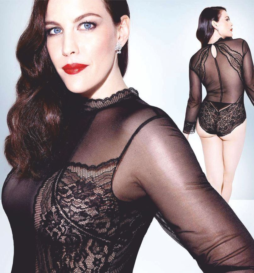 Actress Liv Tyler in Sexy Black Lingerie