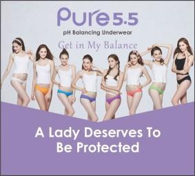 pH balancing underwear ''pure 5.5''