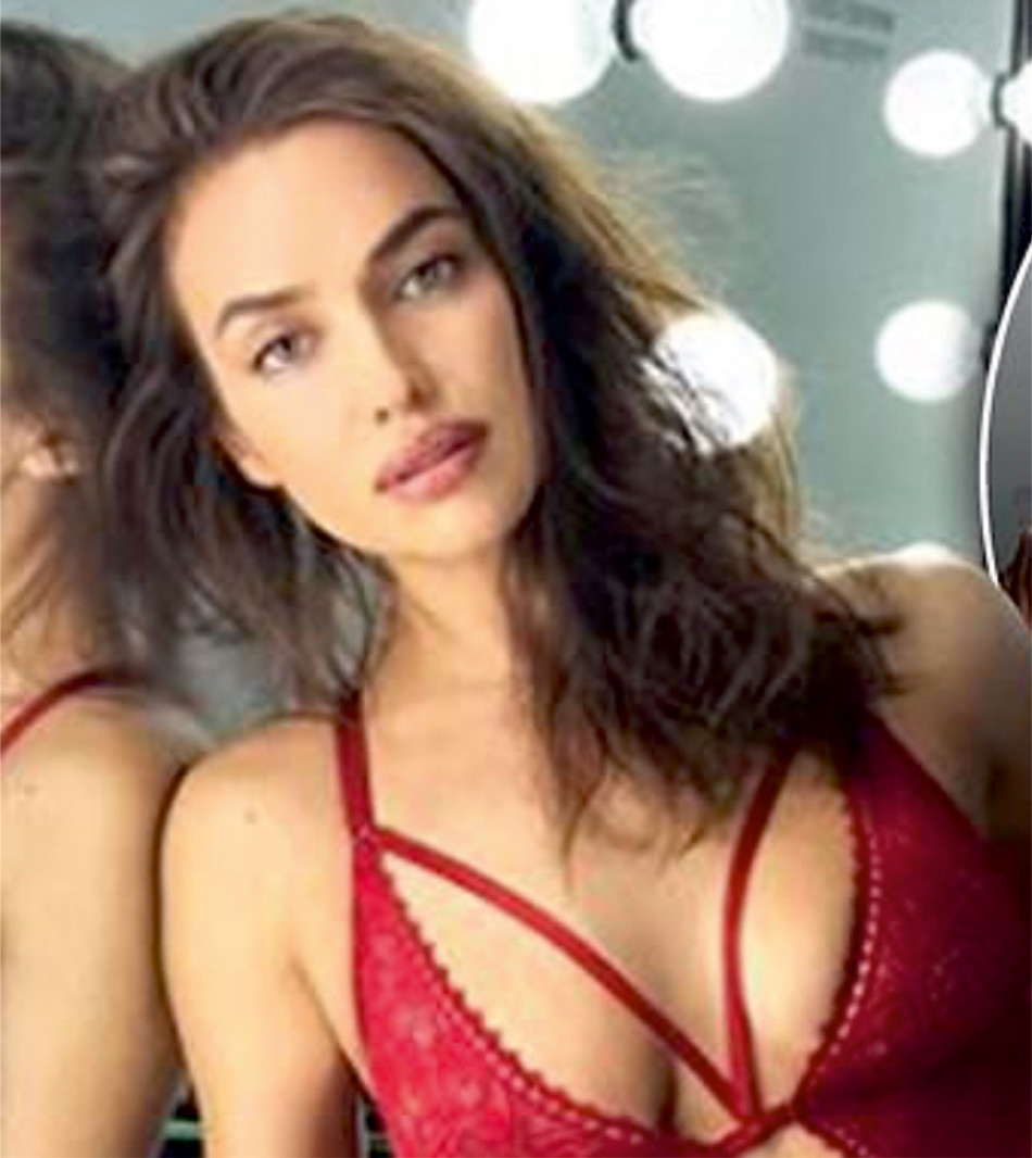 Supermodel Irina Shayk Flaunts Her Sexy Figure In Sexy Red